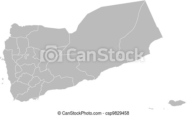 Political Map Of Yemen.Map Of Yemen Political Map Of Yemen With The Several Governorates