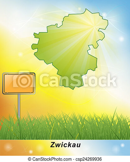 Map of zwickau drawings Search Clipart Illustration and EPS