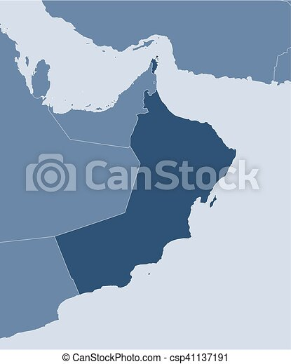 Map oman map of oman and nearby countries oman is eps vectors map oman csp41137191 gumiabroncs Image collections