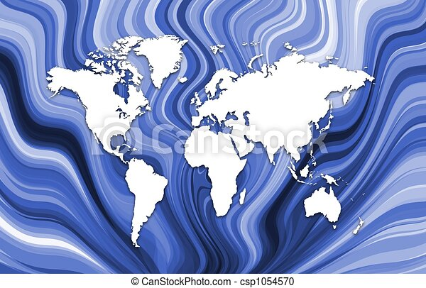 Map on blue - csp1054570