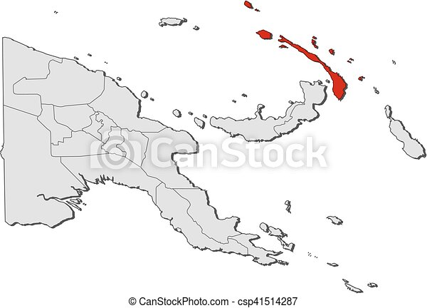 Map Papua New Guinea New Ireland Map Of Papua New Guinea With