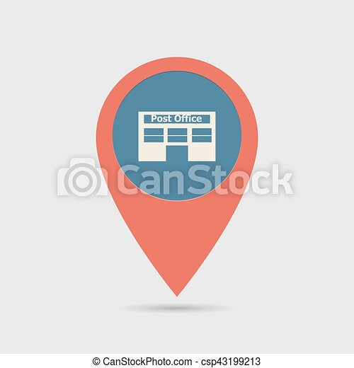 Map Pin For Post Office Location Map Marker Pointer Vector