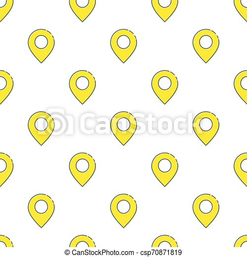 Map pin icon seamless pattern, isolated on white background. Vector illustration, easy to edit. - csp70871819