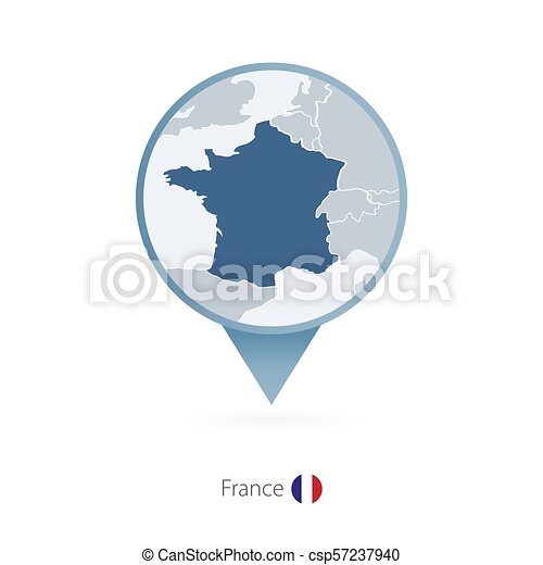 Map Of France With Neighbouring Countries.Map Pin With Detailed Map Of France And Neighboring Countries