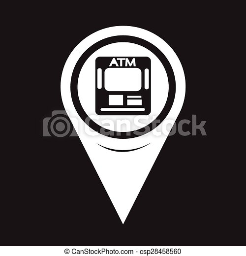 Map Pointer ATM Icon - csp28458560