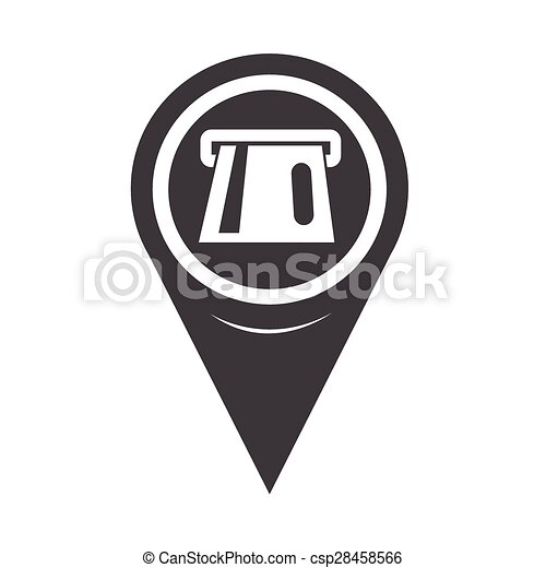 Map Pointer ATM Icon - csp28458566