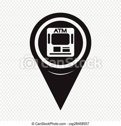 Map Pointer ATM Icon - csp28458557