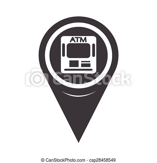 Map Pointer ATM Icon - csp28458549