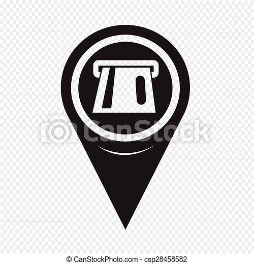 Map Pointer ATM Icon - csp28458582
