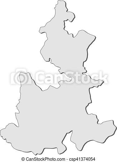 Map Puebla Mexico Map Of Puebla A Province Of Mexico