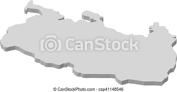 Map rangpur bangladesh 3dillustration Map of eps vector