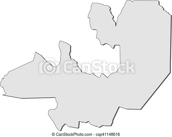 Vector Clip Art Of Map Salta Argentina Map Of Salta A - Argentina map salta