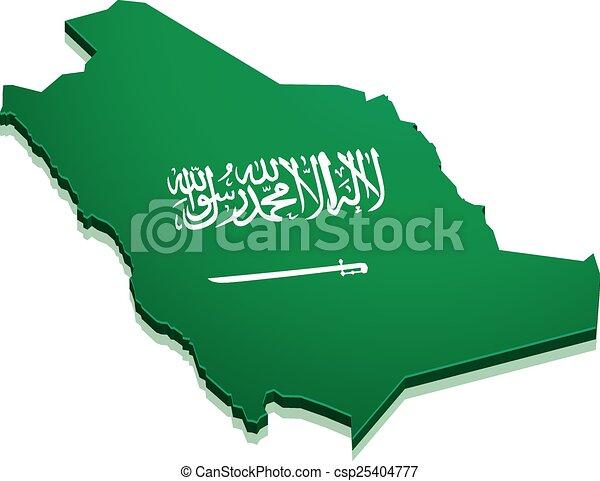 Map Saudi Arabia - csp25404777