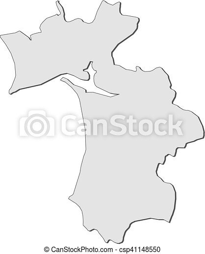 Map setubal portugal Map of setubal a province of clipart