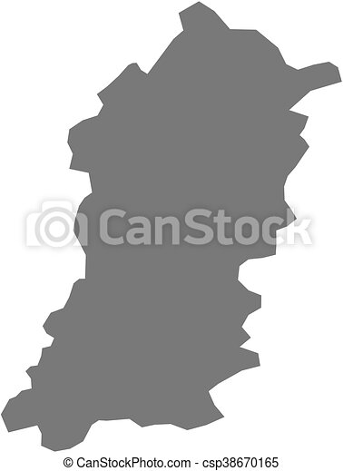 Map shumen bulgaria Map of shumen a province of clip art
