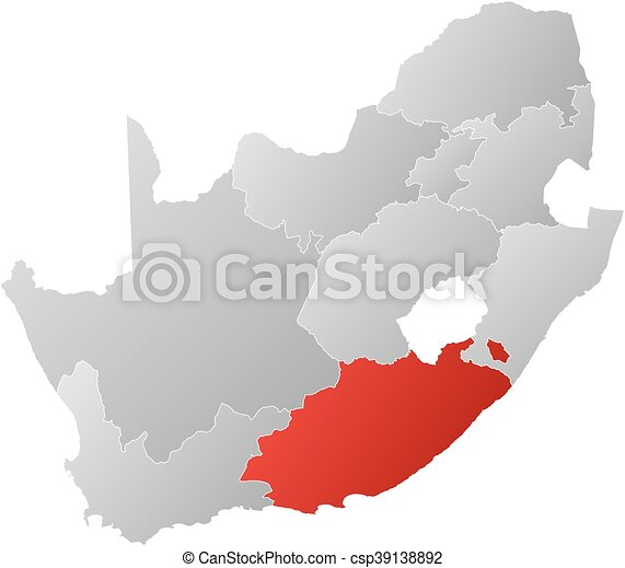 Map south africa eastern cape map of south africa with the map south africa eastern cape csp39138892 gumiabroncs Image collections
