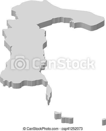 Map - South Sulawesi (Indonesia) - 3D-Illustration