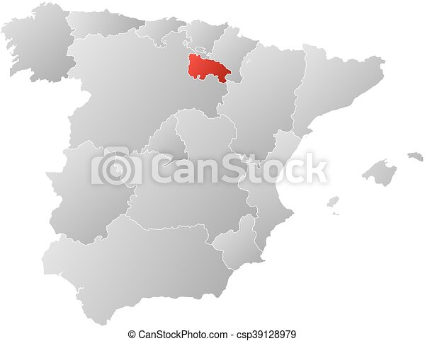 Map Of Spain Rioja.Map Spain La Rioja Map Of Spain With The Provinces Filled With