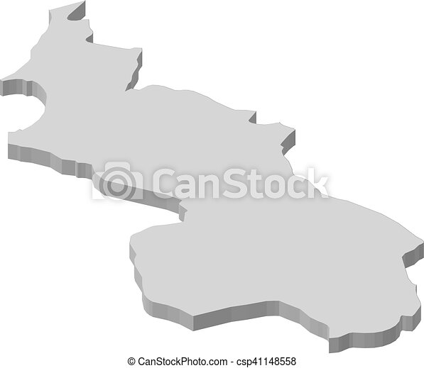 Map sucre colombia 3dillustration Map of sucre a clipart