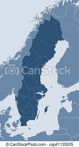Map sweden map of sweden and nearby countries sweden is highlighted map sweden csp41135535 gumiabroncs Choice Image