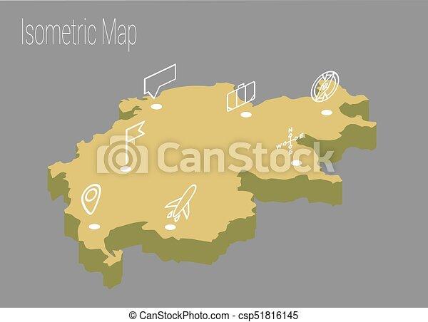Map Switzerland Isometric Concept 3d Flat Illustration Of Map Europe