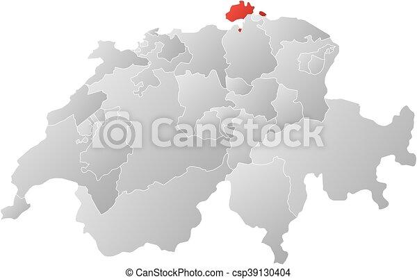Map swizerland schaffhausen Map of swizerland with the vector