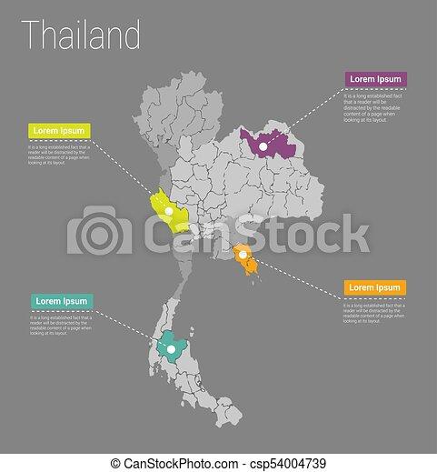 Map thailand i concept political thailand map infographic map thailand i concept csp54004739 gumiabroncs Images