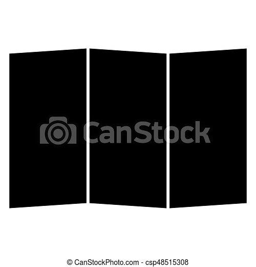 Map the black color icon . - csp48515308