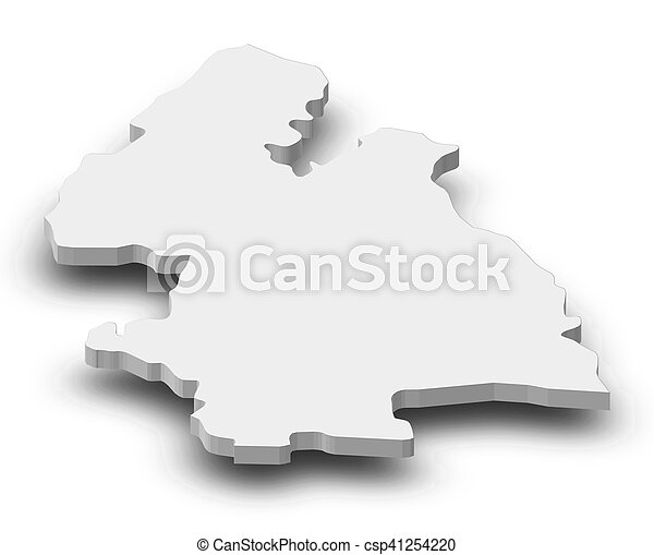 Map Tipperary Ireland 3d Illustration Map Of Tipperary A