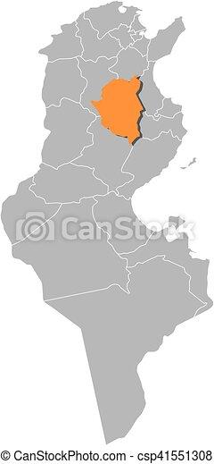 Map tunisia kairouan Map of tunisia with the provinces