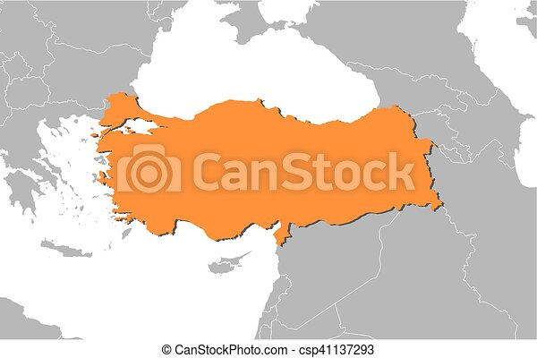 Map - turkey. Map of turkey and nearby countries, turkey is ...
