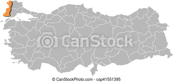 Map turkey edirne Map of turkey with the provinces eps