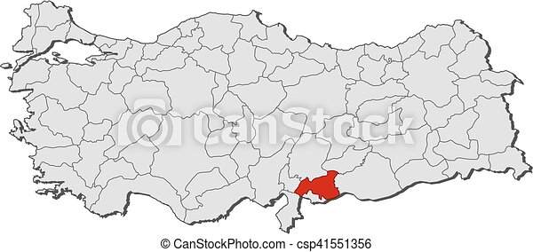 Map turkey gaziantep Map of turkey with the provinces