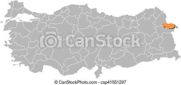 Map turkey igdir Map of turkey with the provinces igdir eps