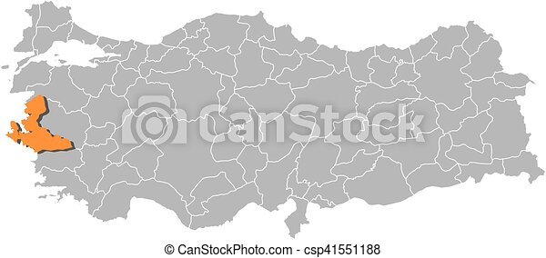 Map turkey izmir Map of turkey with the provinces izmir