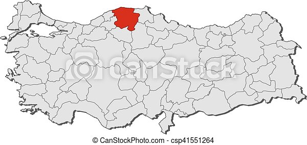 Map turkey kastamonu Map of turkey with the provinces clip