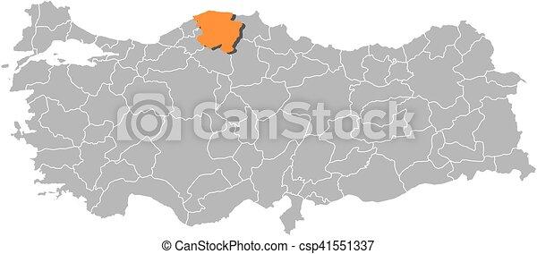 Map turkey kastamonu Map of turkey with the provinces