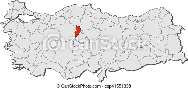 Map turkey kirikkale Map of turkey with the provinces