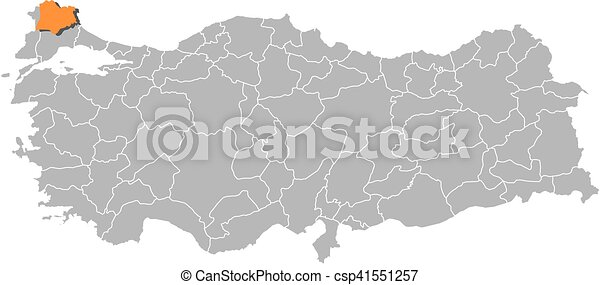 Map turkey kirklareli Map of turkey with the provinces
