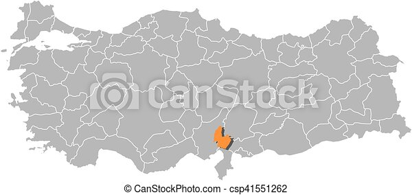Map turkey osmaniye Map of turkey with the provinces clip