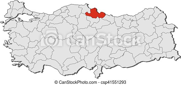 Map turkey samsun Map of turkey with the provinces eps