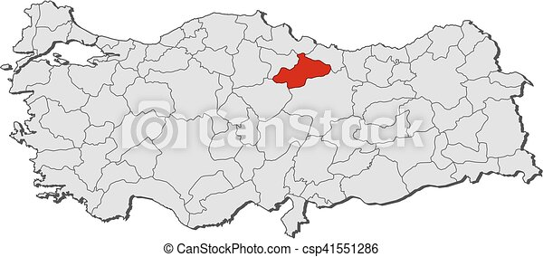 Map turkey tokat Map of turkey with the provinces tokat