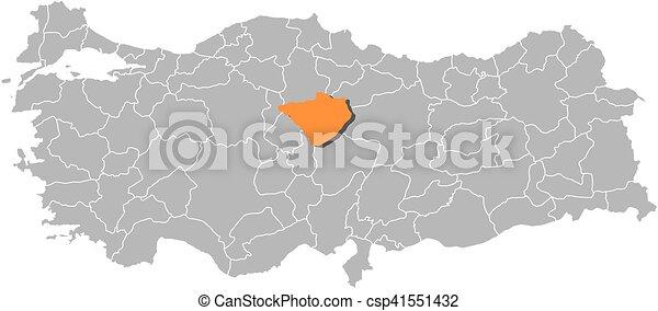 Map turkey yozgat Map of turkey with the provinces vectors