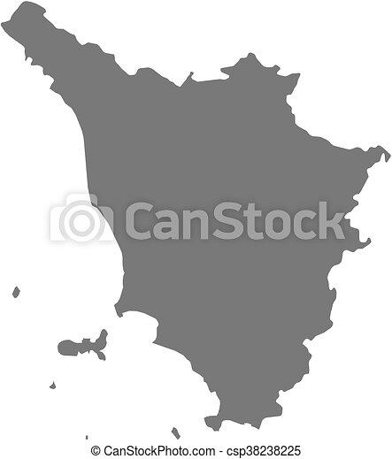 Map - tuscany (italy) Map of tuscany, a province of italy.