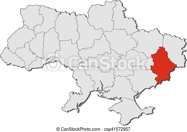 Map ukraine donetsk Map of ukraine with the provinces