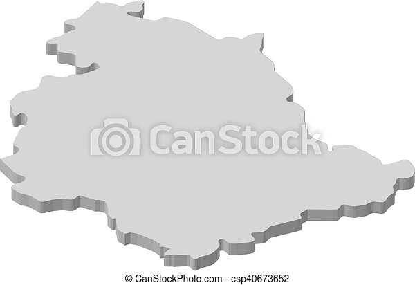 Map Umbria Italy 3d Illustration Map Of Umbria A Province Of