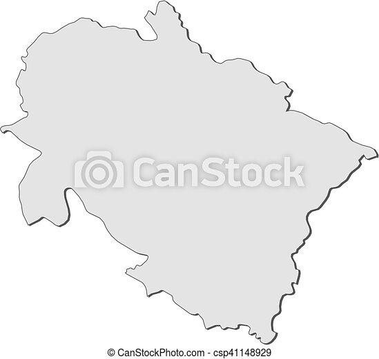 Map - Uttarakhand (India)