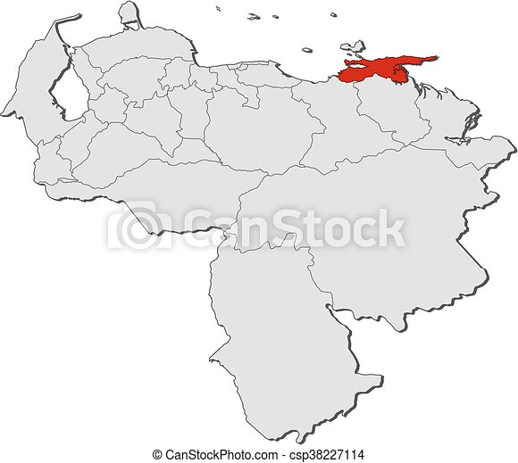 Map venezuela sucre Map of venezuela with the provinces