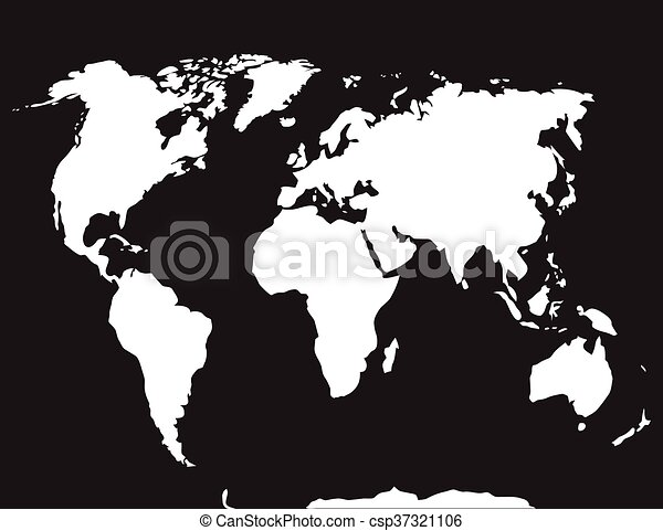 Map world black white atlas globe earth continent and ocean map world black white csp37321106 gumiabroncs Images