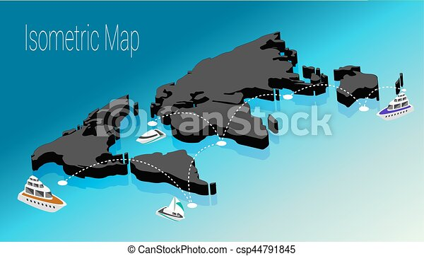 Map world isometric concept 3d flat illustration of map eps map world isometric concept 3d flat illustration gumiabroncs Images